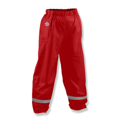 Tuffbak Flex Kids Waterproof Overtrouser - Red - School Depot NZ