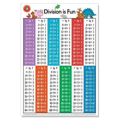 LCBF Wall Chart Division is Fun 50 x 74 CM - School Depot