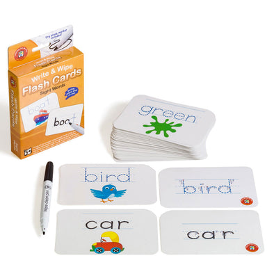 LCBF Write & Wipe Flashcards Sight Words with Marker Ages 5+