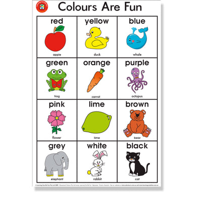 Wall Chart - Colours Are Fun Poster - 50 x 74 CM - School Depot NZ