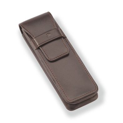 Leather Case for 2 Writing Instruments - School Depot NZ