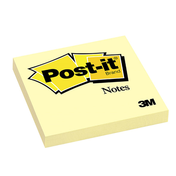 3M Post It Notes Yellow 654-Y 76 x 76 MM Standard