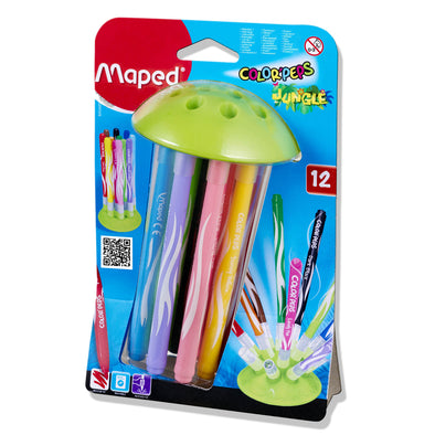 Maped Felt Markers Jungle  Packet of 12 - Jellyfish Design