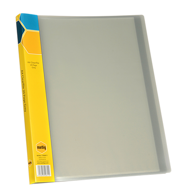 Marbig Display Book A4 20 Pocket Grey