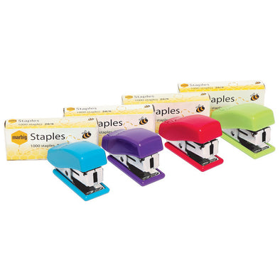 Marbig Mini Stapler with 26/6 Staples Assorted