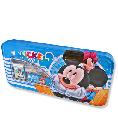 Tin Pencil Box with window Mickey Mouse
