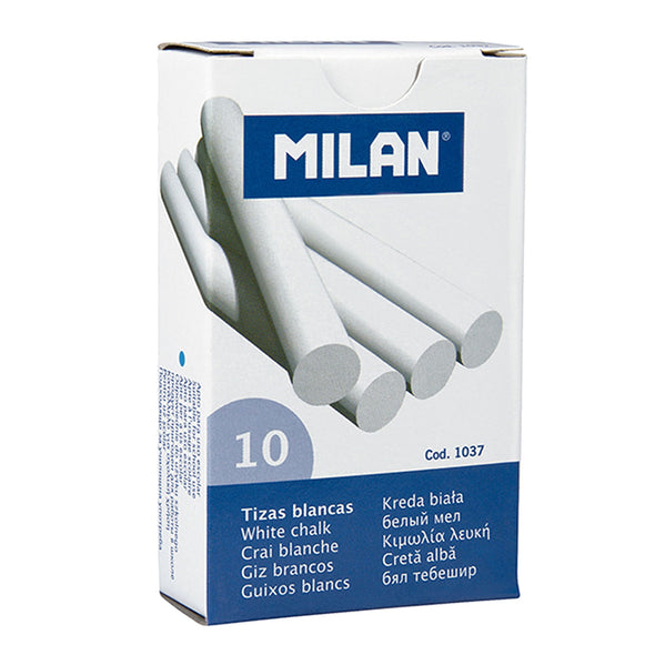 Milan White Chalk Sticks Box 10 - School Depot