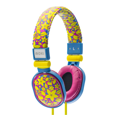 Moki Kids Headphones Poppers Aloha