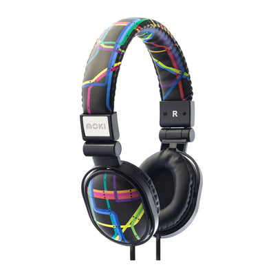 Moki Kids Headphones for Kids Poppers Subway