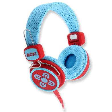 Moki Headphones Kids Safe Volume Limited Blue & Red - School Depot NZ