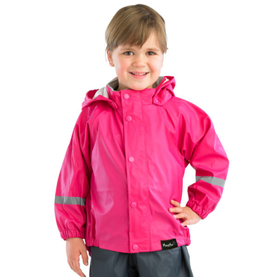M2M Kids Raincoat 100% Waterproof Size 2-10 Years Hot Pink