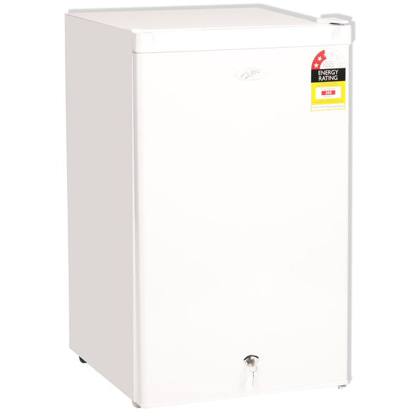 Nero Fridge Freezer with Key Lock 125 Litre
