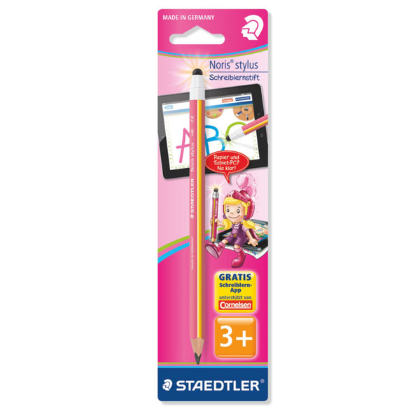 Staedtler Stylus Pencil HB - Pink / Yellow - School Depot NZ