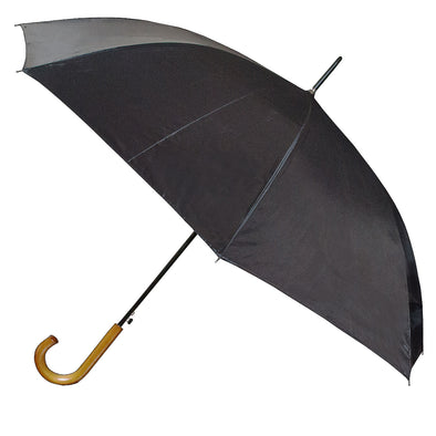 Peros Rain Umbrella with Wooden Handle Euro Black