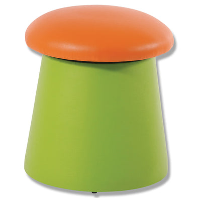 BFX Stool Portobello Ottoman Green/Orange - School Depot NZ