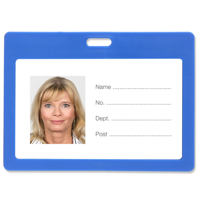 Rexel ID Card Holder Plastic Landscape Blue