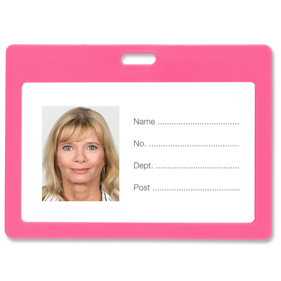 Rexel ID Card Holder Plastic Landscape Pink