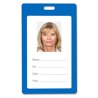 Rexel ID Card Holder Plastic Portrait Blue
