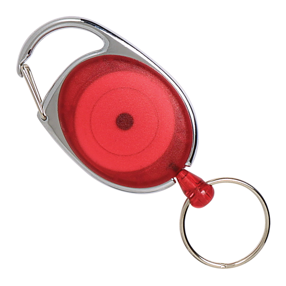 Rexel ID Retractable Snap Lock Key Holder Red
