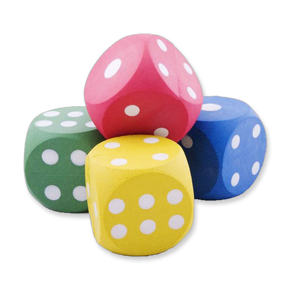 Rubber Dice 53 mm Assorted Colours