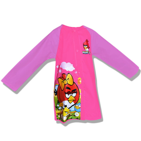 Childrens Raincoat with Hood Angry Bird Pink - School Depot NZ