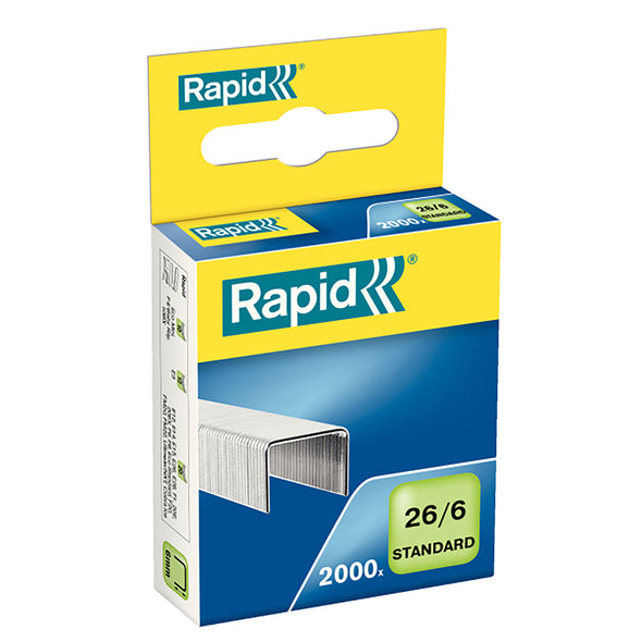 Rapid 26/6 MM Staples Pack 2000 - School Depot NZ