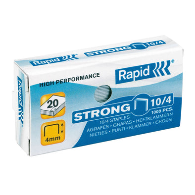 Rapid No.10 Staples 10/4 MM Box of 1000 - School Depot NZ