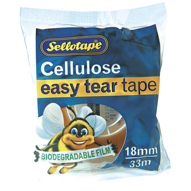 Sellotape Cellulose Tape Clear 18 mm x 33m