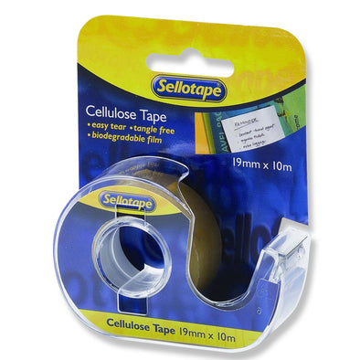 Sellotape Dispenser & Tape Cellulose 19 mm X 10 m - School Depot NZ
