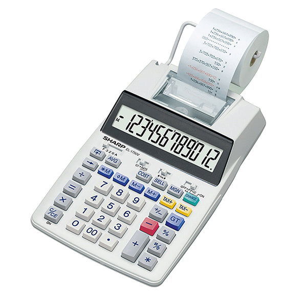 Sharp EL1750V Printing Calculator - School Depot