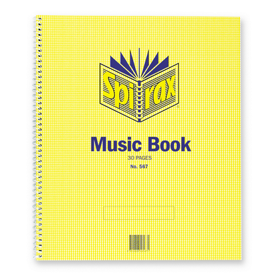 Spirax 567 Music Book 297x248 Side Opening 70gsm 30 Pages