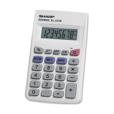 Sharp Calculator 8 Digit EL-233SB