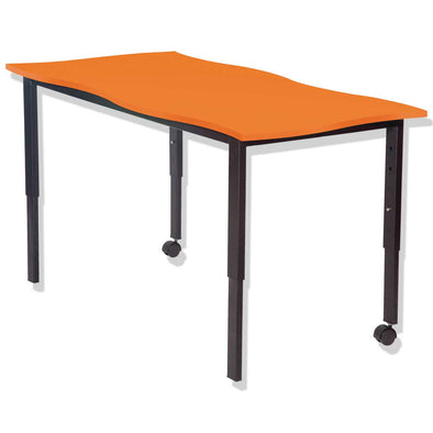 SmarTable Twist Height Adjustable Double Table  Orange - School Depot NZ