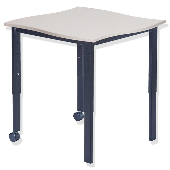 BFX SmarTable Twist Single Students Height Adjustable Table White