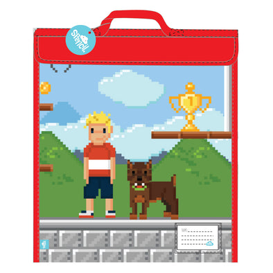 Spencil Homework Bag Pixel 370 x 450 mm
