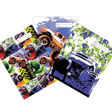 Spencil Book Cover A4 Big Wheels II Pack of 3