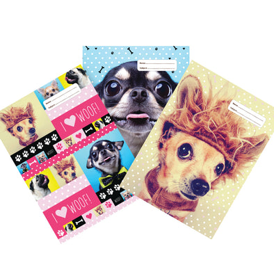 Spencil Book Cover A4 Woof 3 Pack Assorted