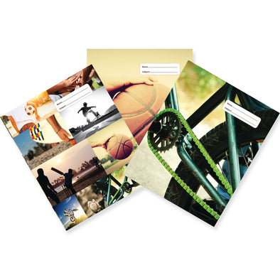 Spencil Slip-On Book Cover 1B5 Collage 3 Pack Assorted