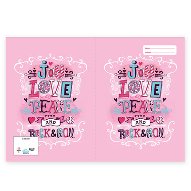 Spencil Exercise Book Cover A4 - Love Joy Peace