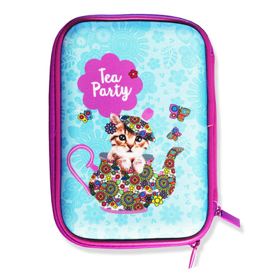 Spencil Hard Top Pencil Case - Tea Party - School Depot NZ - 1