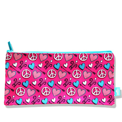 Spencil Rectangle Pencil Case Love Joy Peace - School Depot NZ