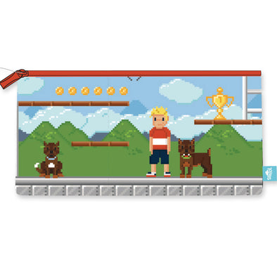 Spencil Rectangle Pencil Case 34 x 17 cm Pixel