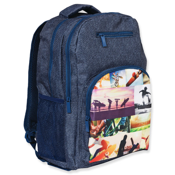 Spencil School Bag Backpack Collage