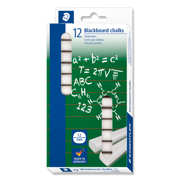 Staedtler Blackboard Chalk White Pack 12
