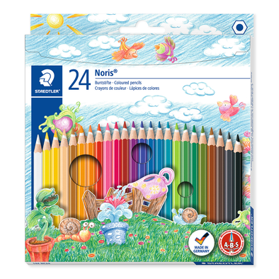 Staedtler Colouring Pencils Full Length Noris Club 24 Pack