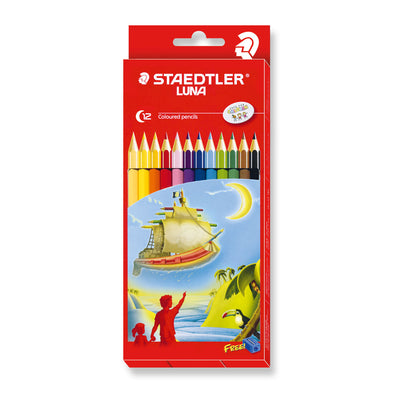 Staedtler Colouring Pencils Luna Full Length 12 Pack with Free Sharpener