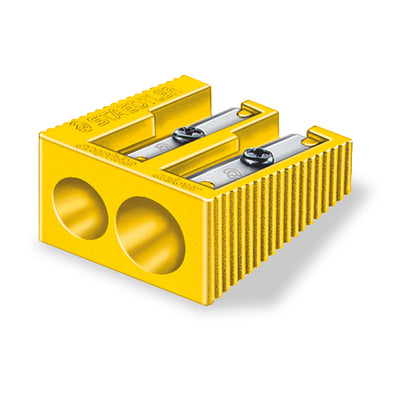 Staedtler Pencil Sharpener Plastic Double Hole - Yellow