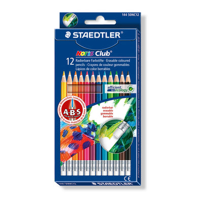 Staedtler Erasable Coloured Pencils Noris Club 12 Shades