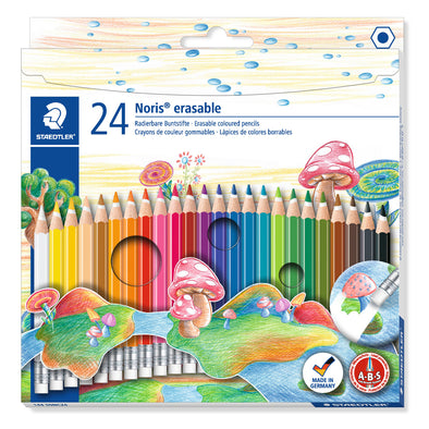 Staedtler Noris Club Erasable Coloured Pencil 24 Shades - School Depot NZ