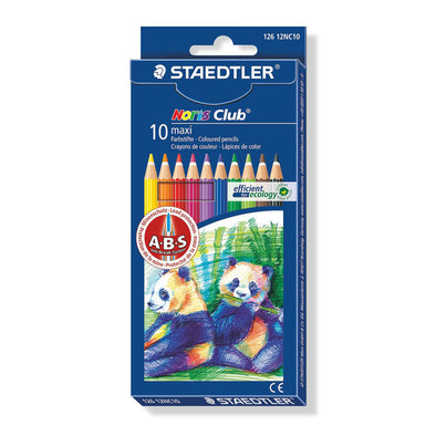 Staedtler Maxi Coloured Learners Pencils Noris Club 10 Shades